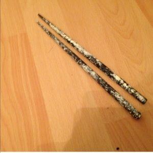 Fire Mtn Accessories - Hair Chopsticks (blk/wht)