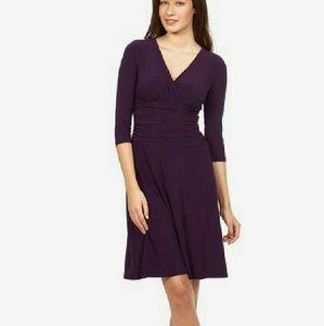 Cross Front Draped Dress