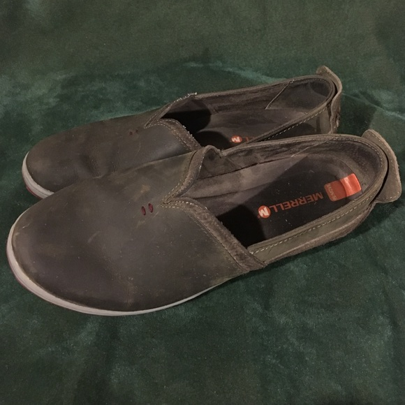 Merrell Womens Slip On Suede Shoes Size
