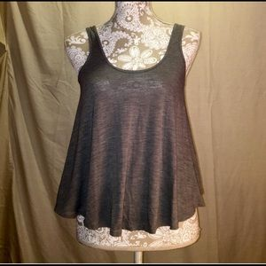 🌺B1G1🌺AEO, Gray Baby doll tank loose fit tank XS