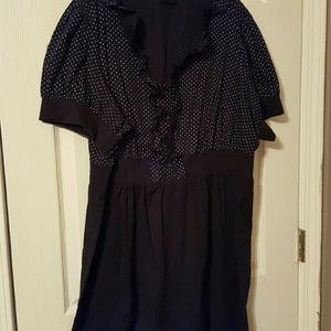 Torrid black dress with white polka dots
