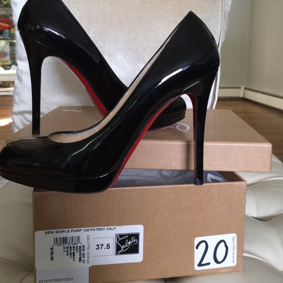 release date: 03e1d 02d47 CHRISTIAN LOUBOUTIN NEW SIMPLE PUMP 120 WORN ONCE