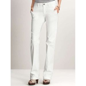 Banana Republic Petite White Denim Relaxed Jeans