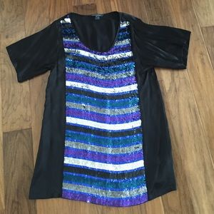 French Connection mini sequin dress 10
