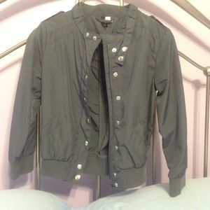 H&M size 2  gray  3/4 sleeve jacket