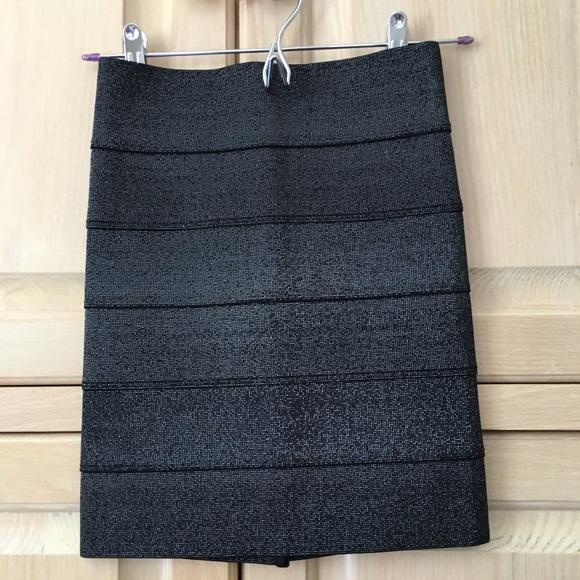 62c23fd4c2 Pleasure Doing Business Skirts | Nwot Xs Metallic Sparkle Black ...