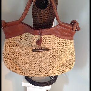 Foley + Corinna Handbags - Woven Jute Bag with Leather Trim