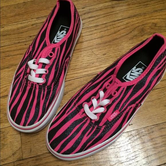 361ba826bce8 Vans Pink Black Glitter Zebra Shoes New 7. M 57389a41f739bc72ce003e02