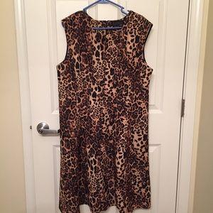 Eloquii Dresses & Skirts - Eloquii Scuba Leopard Fit and Flare Dress