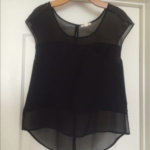 Silence and Noise Top sleeveless Black Size XS