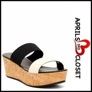 Charles David Shoes - CHARLES DAVID Wedge Sandals Leather PlatformSlides