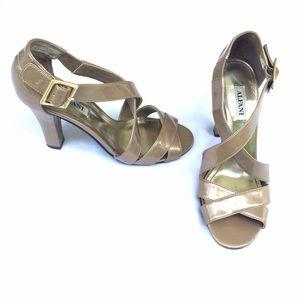 Alfani Nude Patent Leather Tonya Strappy Heels