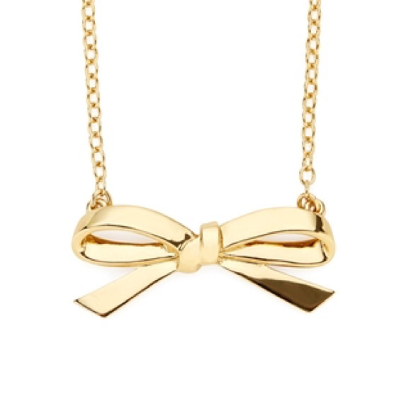 Kate Spade Pearl Bow Necklace: Finishing Touch Gold Bow Necklace