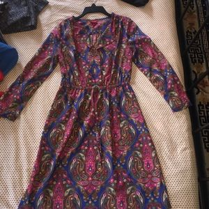 Paisley pattern summer dress