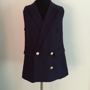 The Limited Jackets & Blazers - The Limited Navy Vest