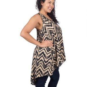 Tops - NWT Plus size sleeveless High Low Hem