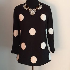 New York & Company Sweaters - Black &a White Polka Dot Sweater