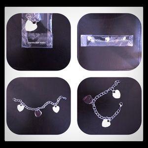 Stainless Steel Heart Bracelet.