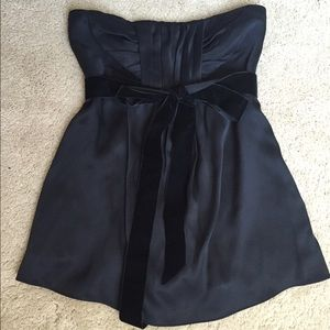 NWOT Banana Republic strapless silk top