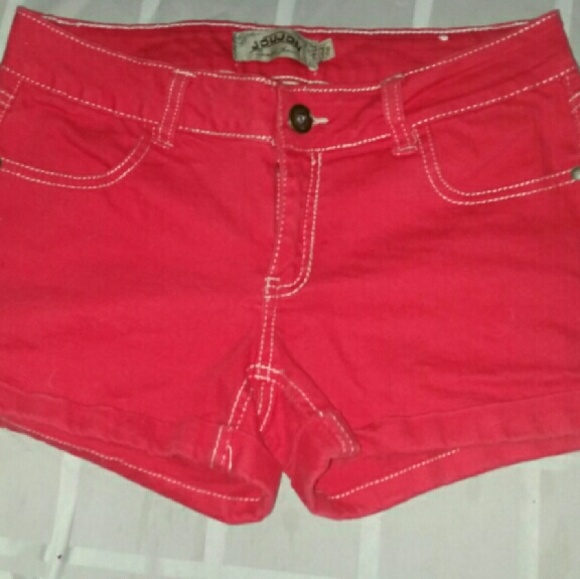 50% off Jou Jou Pants - Red denim shorts Juniors size 7-8 from ...