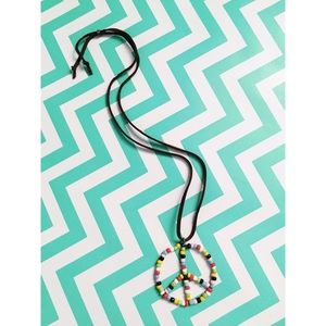 Funky Monkey Jewelry - Beaded peace sign necklace