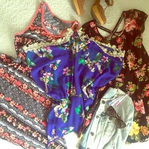 Dresses & Skirts - Floral Dresses & Romper Bundle