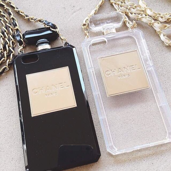 premium selection 6bde9 a5b3c Chanel perfume case with Chain (clear) iPhone 6s