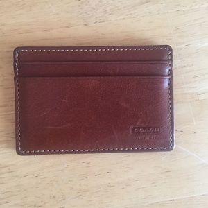 Coach Handbags - Coach Leather Card Case