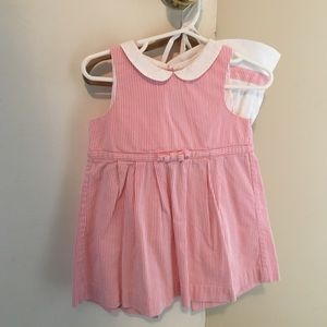 Jacadi girls dress and hat for sale