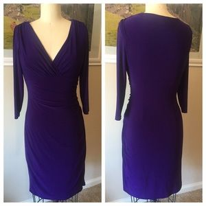 Dresses & Skirts - American Living Ruched Purple Dress