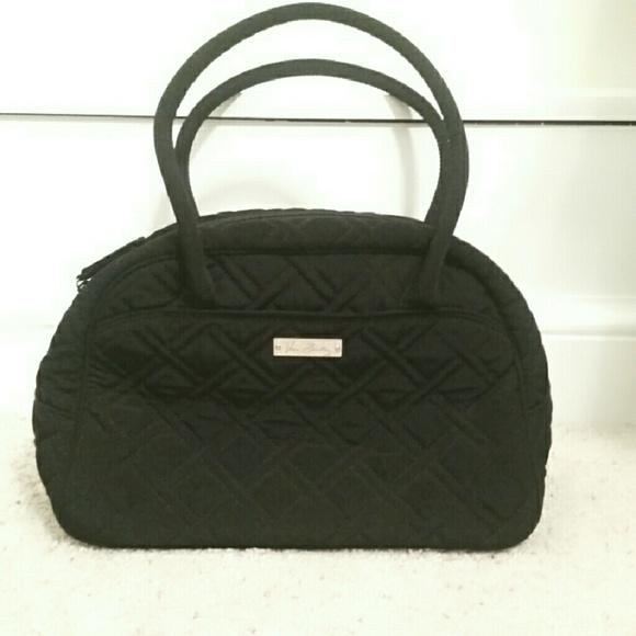 042efdd0ac Classic Black Microfiber Vera Bradley Bowler Bag. M 5738c4c99c6fcffbaa008926