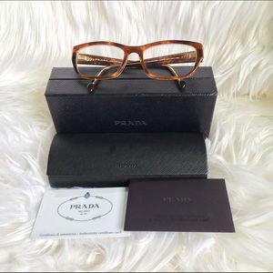 Authentic Prada 52018 eye glasses with box