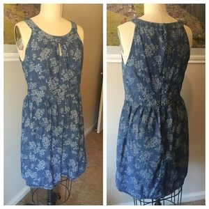 LOFT Dresses & Skirts - LOFT Denim Floral Dress
