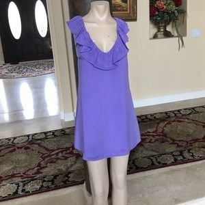 ANLO Dresses & Skirts - Anlo Silk lilac dress size small solid color