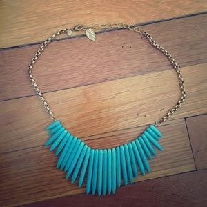 David Aubrey Lauren Turquoise Spike Bead Necklace
