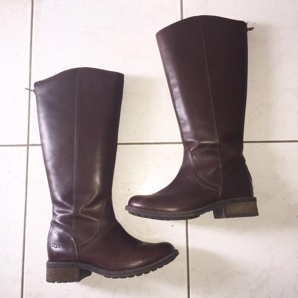 76f1ff4fdd2 UGG Seldon Dark Chestnut Leather Boot Women's 8