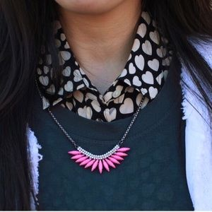 !!SALE!! Pink feather necklace!