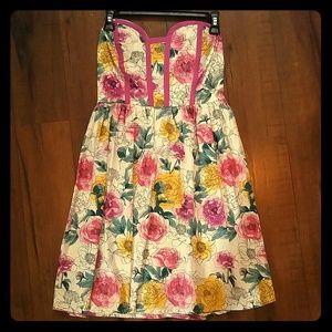 Floral strapless Kandy Kiss dress