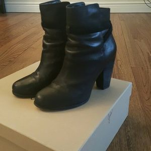 """Joie Black Leather """"Rigby"""" Boots Size 7"""