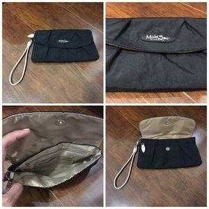 Handbags - black mini wristlet bag