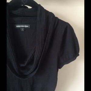 Express Black cowl neck short sleeve sweater