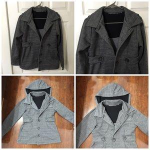 Jackets & Blazers - gray hooded coat