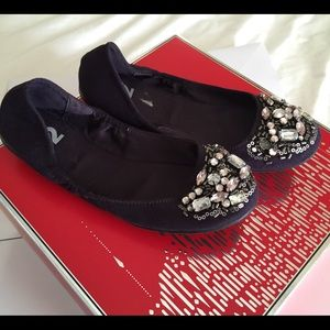 Report R2 'Fernley' Jeweled Ballet Flats