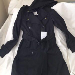 Cole Haan black rain coat
