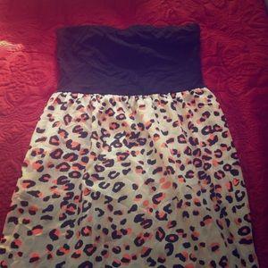 Dresses & Skirts - Cheetah Strapless dress