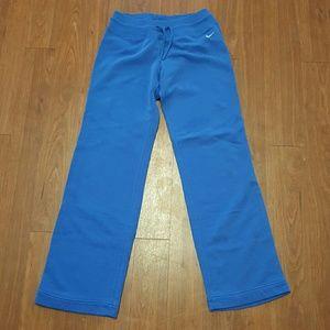 Royal blue nike sweat pants