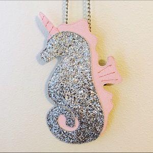 ASOS Bags - ASOS Glitter Unicorn Seahorse Flat Crossbody