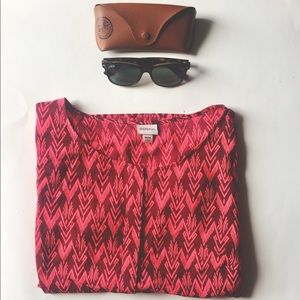 Tops - Red Tribal Blouse