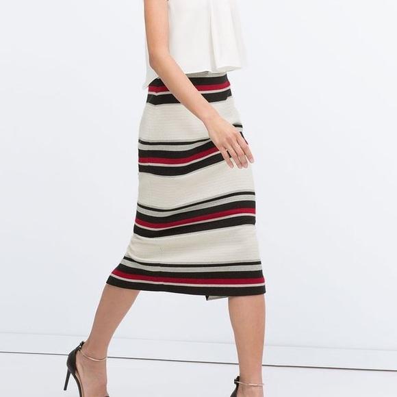 f837512c0 Zara Striped Pencil Skirt. M_5738fc7536d594e68c00f080
