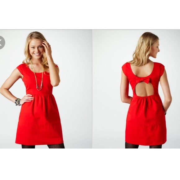 58% off American Eagle Outfitters Dresses & Skirts - Red back-bow ...